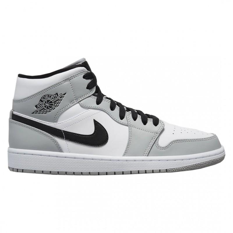 Nike Air Jordan 1 Mid Light Smoke Grey - mypapuc