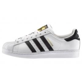 Uomo adidas Originals Superstar Sneakers bianche e nere